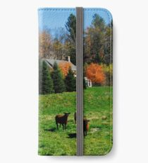 Sheep Farm in the Vermont Countryside iPhone Wallet/Case/Skin
