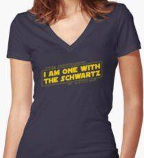 The Schwartz Is With Me Women's Fitted V-Neck T-Shirt