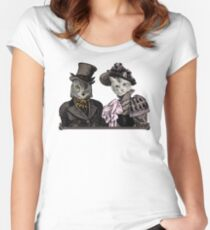 The Owl and the Pussycat Women's Fitted Scoop T-Shirt