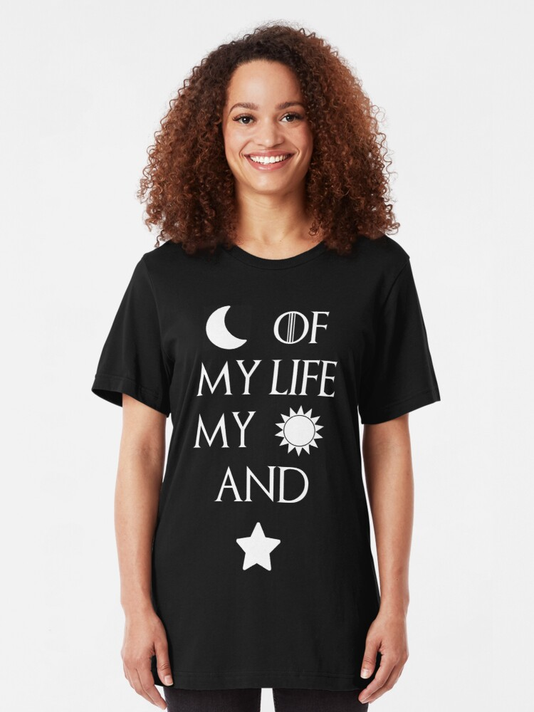 Alternate view of Moon of my life my sun and stars Slim Fit T-Shirt