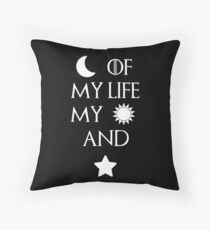Moon of my life my sun and stars Throw Pillow