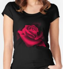Red Rose Love Women's Fitted Scoop T-Shirt