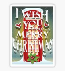 Christmas Card with English Cabin Sticker