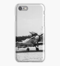 Spitfire in the snow black and white version iPhone Case/Skin