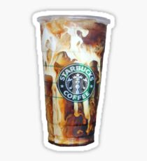 Iced coffee photo print Sticker