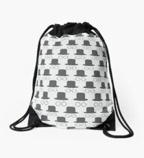 Hat and glasses seamless Drawstring Bag