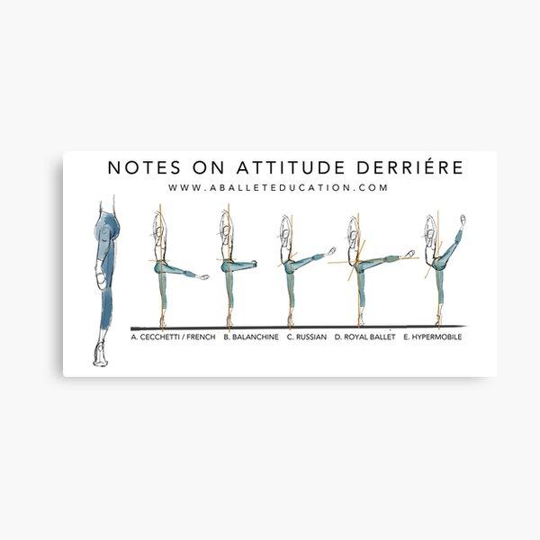 Notes on Attitude Back Canvas Print