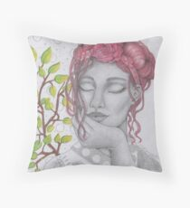 My Lady in Silver Throw Pillow
