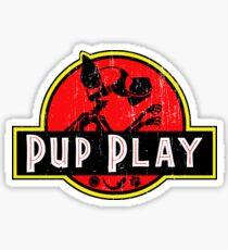 Jurassic Pup Distressed  Sticker
