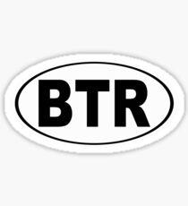 Baton Rouge Louisiana Oval BTR Sticker