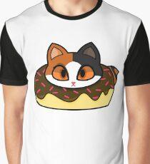 Japanese Bobtail Donut Cat Graphic T-Shirt