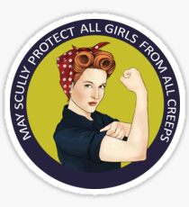 May Scully protect all girls from all creeps Sticker