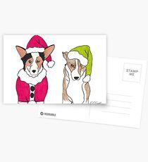 Corgi Christmas Postcards