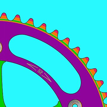 Psychedeli-Cat Chainring by BonkersStyle