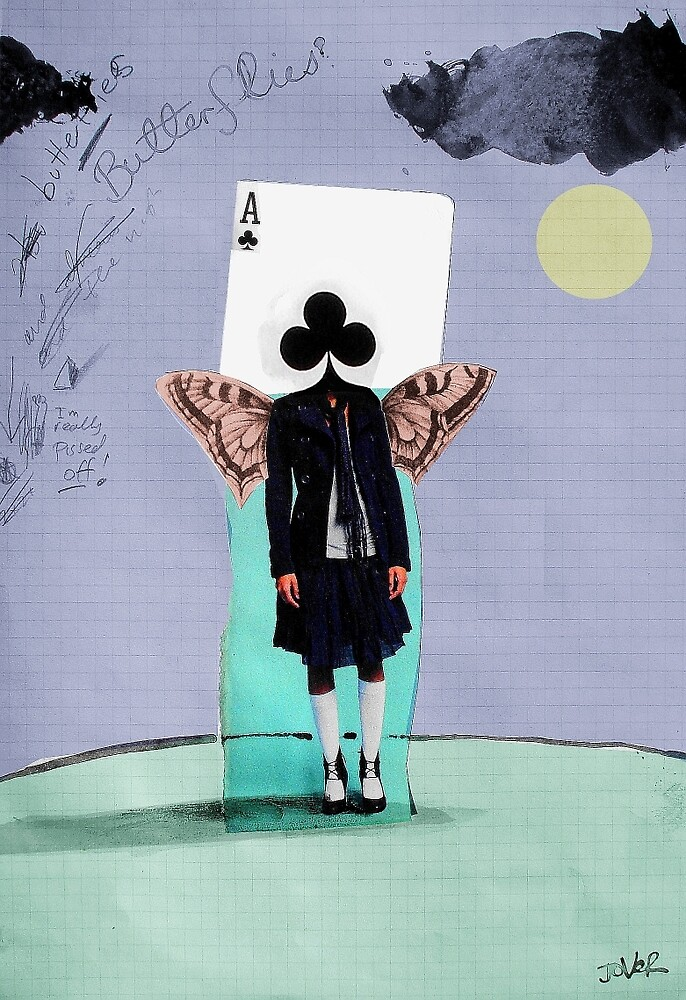 butterfly girl luck by Loui  Jover