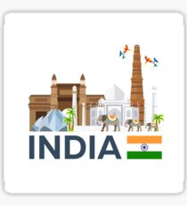 India, skyline. Taj mahal Sticker