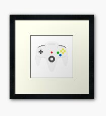 Nintendo 64 controller in pixelart Framed Print