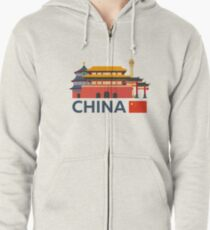 China, Beijing skyline Zipped Hoodie