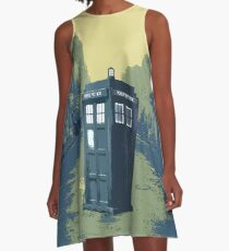 Tardis in the old town A-Line Dress