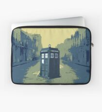 Tardis in the old town Laptop Sleeve
