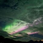 Northern Lights - Green and Pink by Vlavo