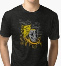 Zodiac - Gemini -  Black & Gold Tri-blend T-Shirt