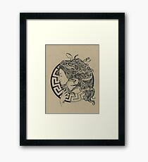 Mythological Gorgonion Medusa Amulet Framed Print