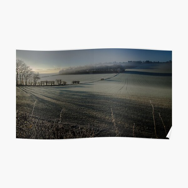 Frosty morning in the Chilterns Poster