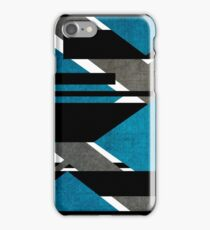 Scratched Canon Cyan iPhone Case/Skin