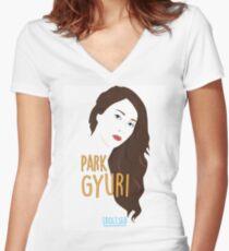 KARA Gyuri Women's Fitted V-Neck T-Shirt