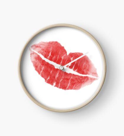 Kiss Me by Julie  Everhart Clock