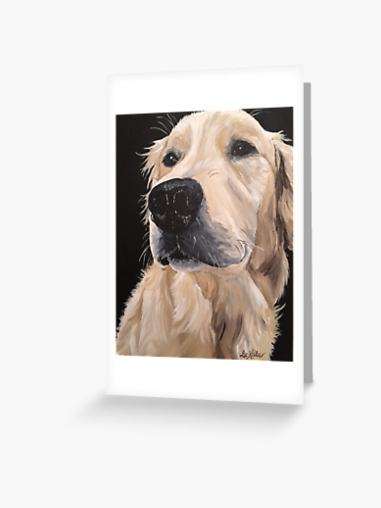 GOLDEN RETRIEVER cell phone picture dog art  4x6  GLOSSY PRINT
