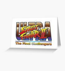 Ultra Street Fighter 2 The Final Challengers Greeting Card