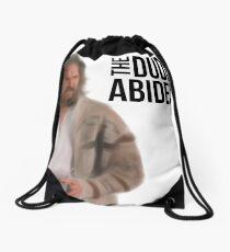 The Dude Abides - Big Lebowski Drawstring Bag