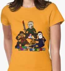 Baby Freddy, jason and Michael Womens Fitted T-Shirt