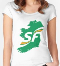 Sinn Fein Logo Women's Fitted Scoop T-Shirt