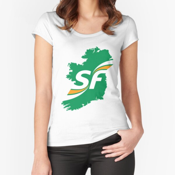 Sinn Fein Logo Fitted Scoop T-Shirt