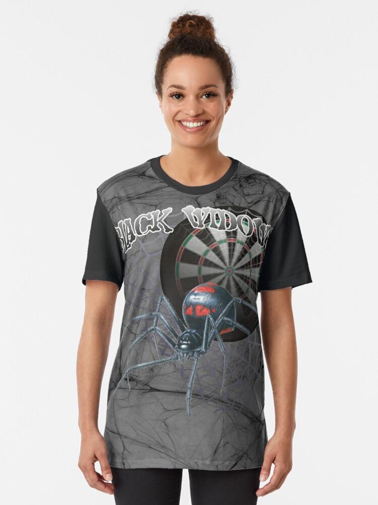 Alternate view of Black Widows Darts Shirt Graphic T-Shirt