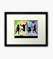 Happiness Freedom Funny Design Framed Print