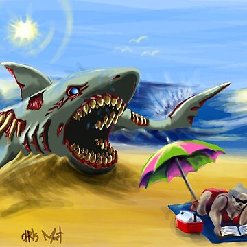 Zombie Megalodon by chrismoet