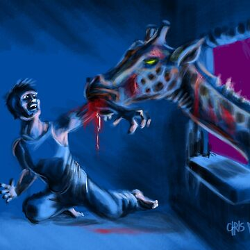 Zombie Giraffe by chrismoet