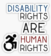 Disability Rights ARE Human Rights Sticker