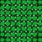 Shades of Green Shamrocks by Greenbaby