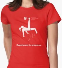 Experiment In Progress - Soccer Womens Fitted T-Shirt