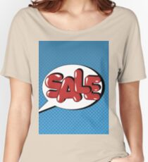 Bubble with Expression Sale in Vintage Comics Style Women's Relaxed Fit T-Shirt