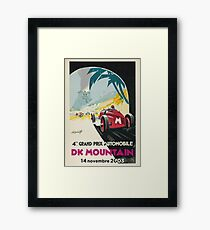 DK Mountain Grand Prix - Posters and Products Framed Print