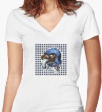 Gonzo Muppets LSD Blotter Women's Fitted V-Neck T-Shirt