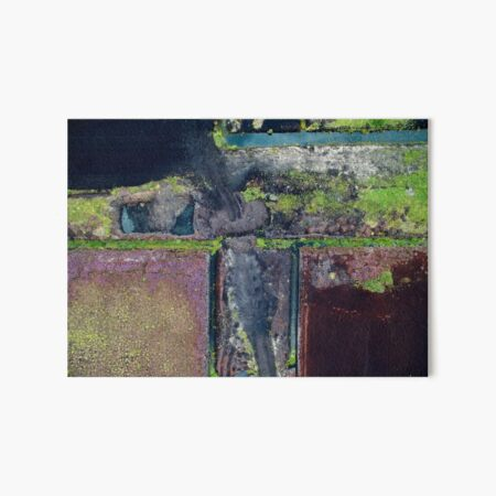 Abstract Peat Landscape No2, Ireland Art Board Print