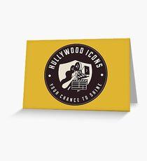 Hullywood Icons Logo Greeting Card