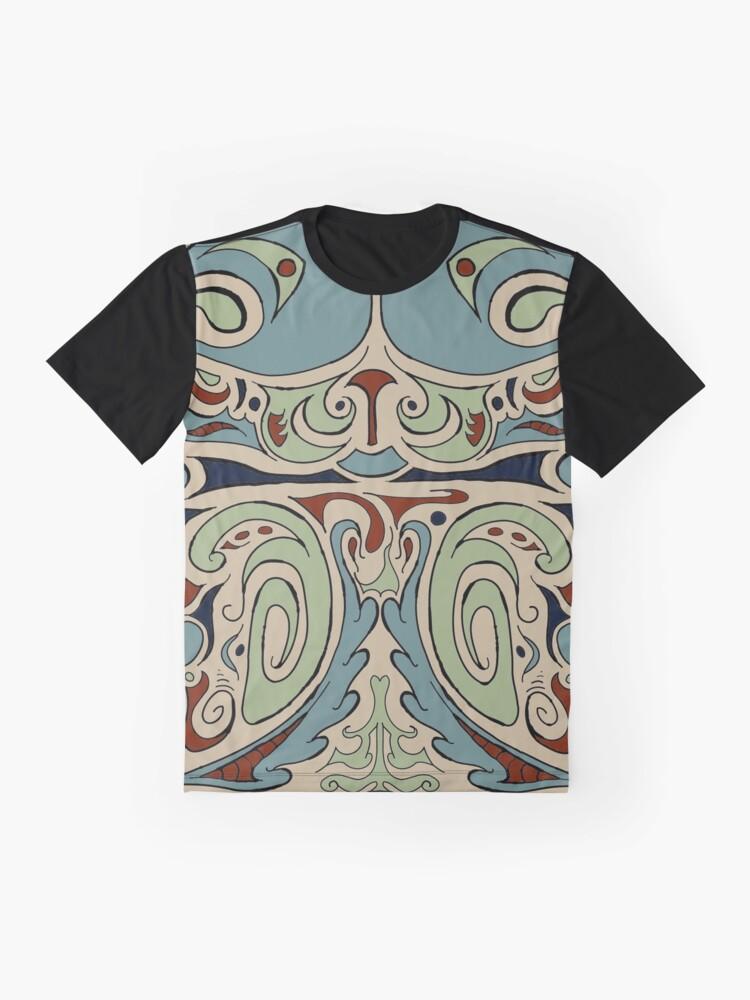 Alternate view of Cartoony Pattern 001 Graphic T-Shirt